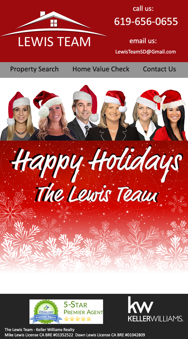 The Lewis Team at Keller Williams Happy Holidays