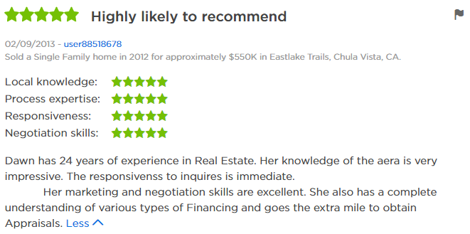 Zillow Agent in Eastlake Trails - 5 Star Zillow Agent Review Eastlake Trails  Real Estate Agent - Dawn Lewis with The Lewis Team