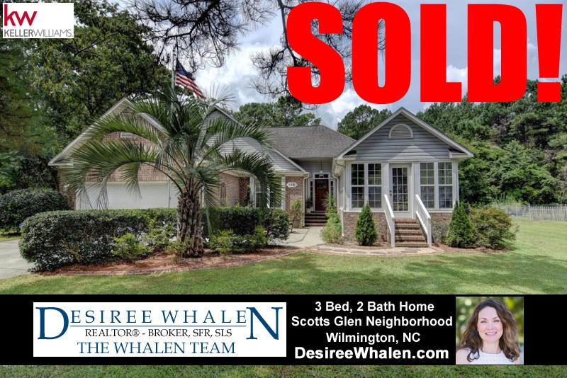 Home Sold in the Scotts Glen Neighborhood of Wilmington NC