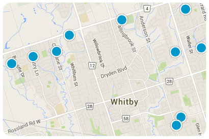 Interactive Whitby Real Estate Map Search
