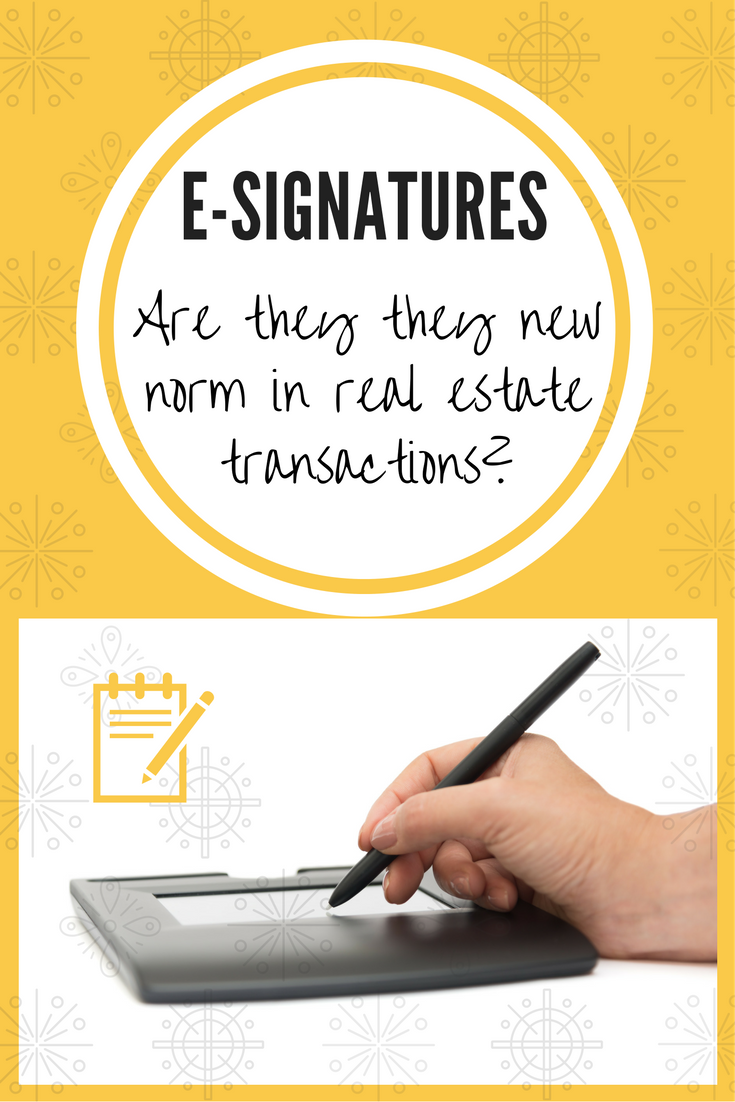 E-Signatures in real estate