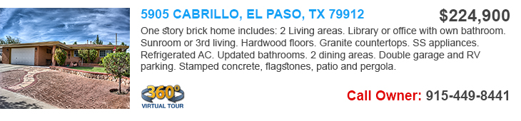 homes for sale in elpaso tx