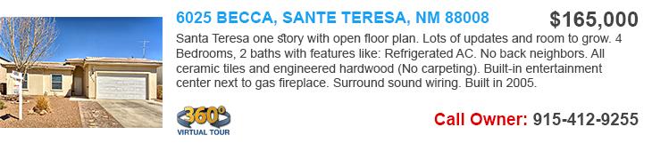 homes for sale in santa Teresa
