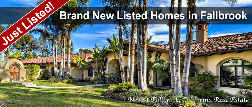New Listed Fallbrook Homes