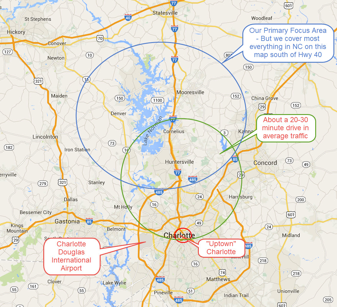 Popular Lake Norman Area Towns