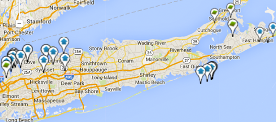 Search Long Island Real Estate by Map