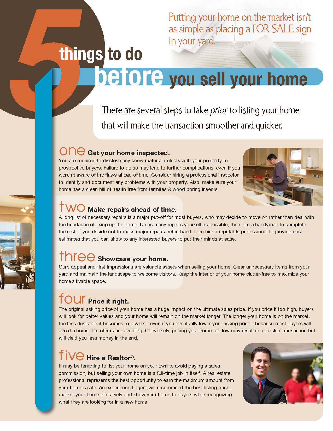 5 things to do before selling your home for Items to sell from home