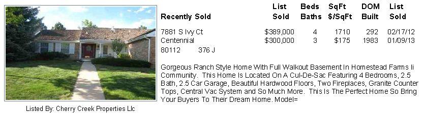 Homestead Farm II 2013 Sold Homes
