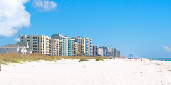 Florida Gulf Coast beach and condos