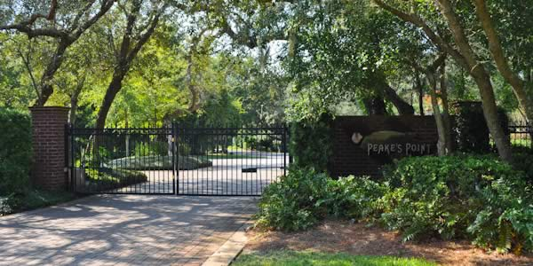 Gulf Breeze gated homes at Peaks Point