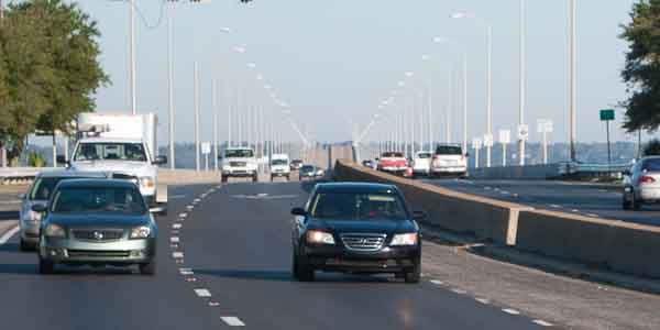 Gulf Breeze approach to the Pensacola Bay Bridge