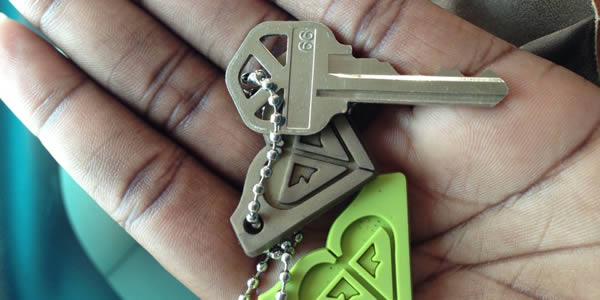 First-time homebuyer with keys