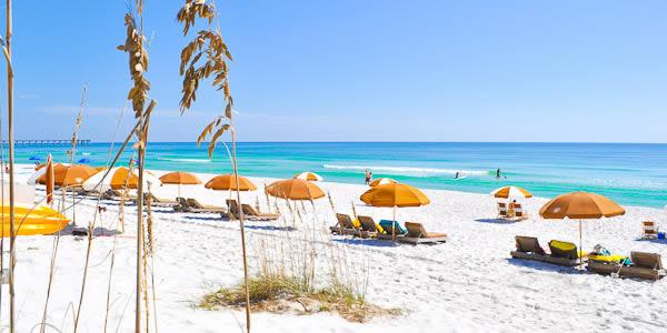 Beach chairs on the Florida Gulf Coast