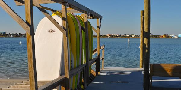Waterfront activities on Pensacola Beach