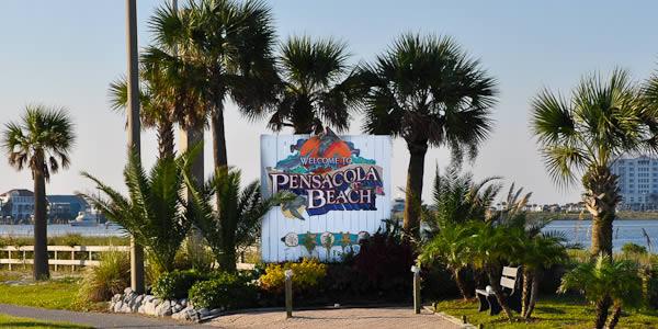 Pensacola Beach welcome sign