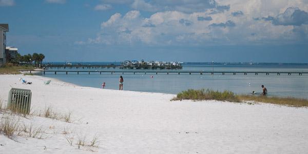 Beach at Boardwalk condominiums in Pensacola Beach