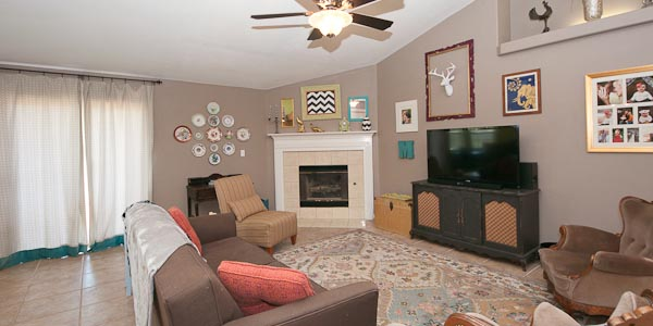 Living room at Crown Point subdivision