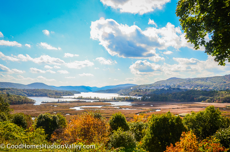View from Boscobel of Storm King Mountain