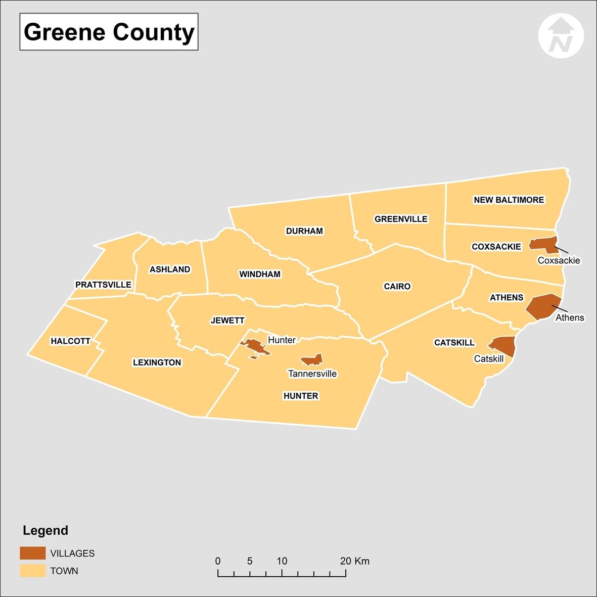 Greene County New York Towns