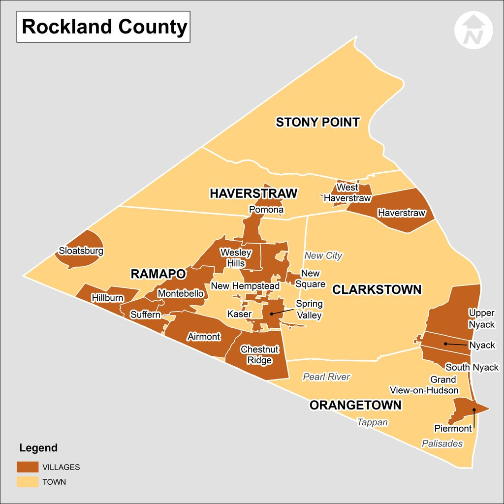 Rockland County New York Map - Rockland County Real Estate