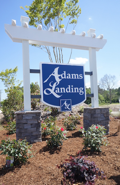 Adams Landing Homes for Sale Entrance Sign