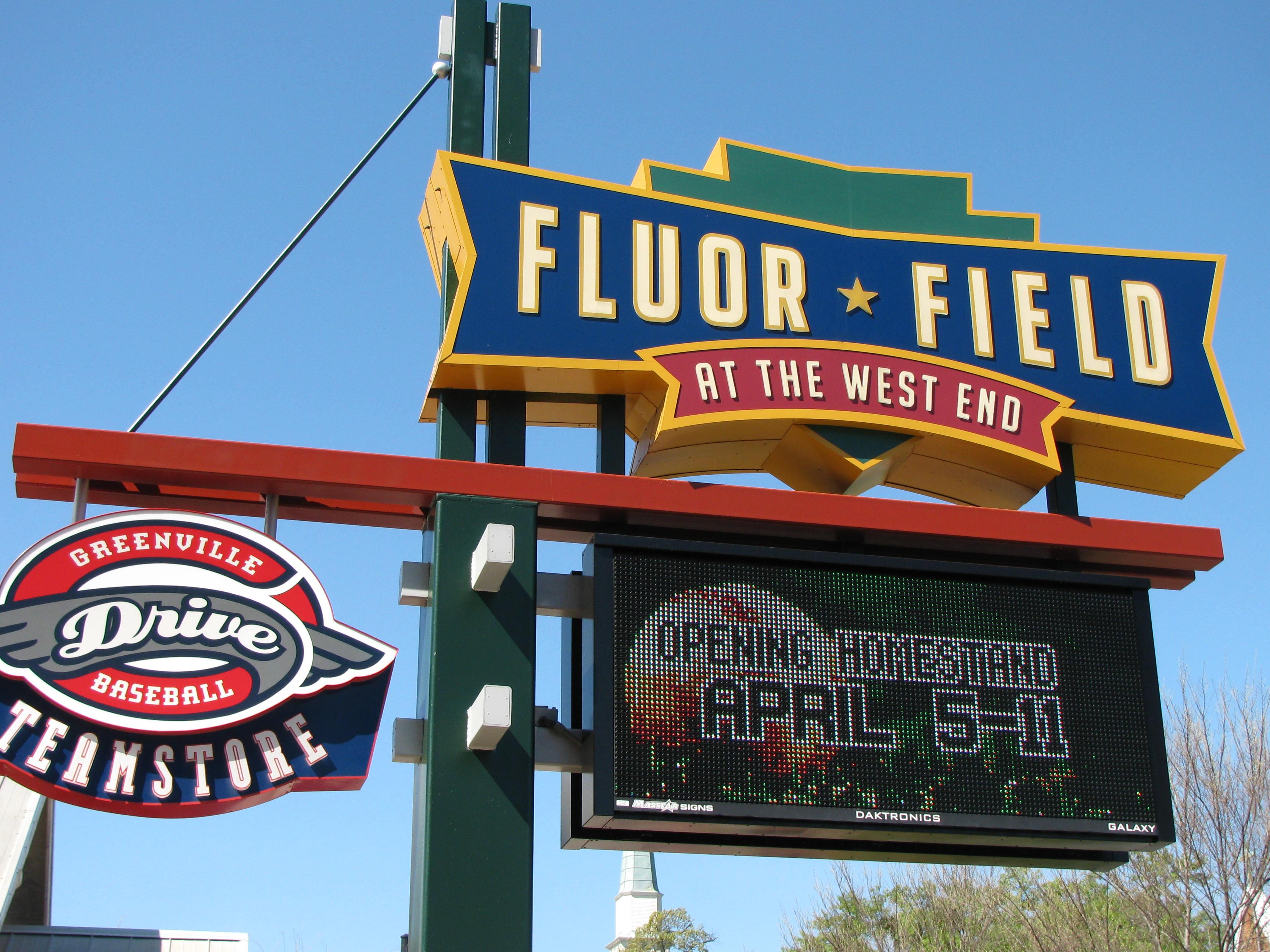 Fluor Field Sign
