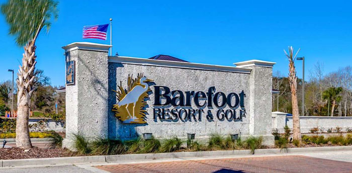 Barefoot Resort Entrance