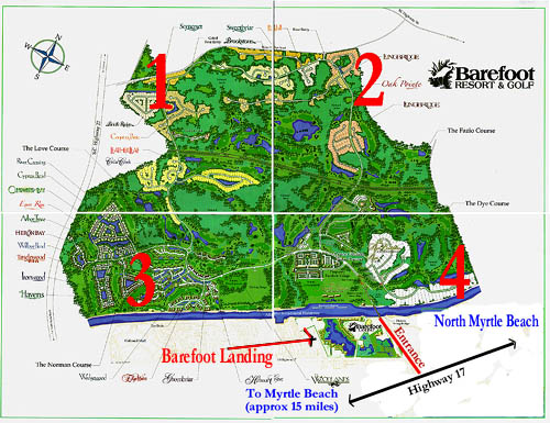 Barefoot Resort Myrtle Beach Map