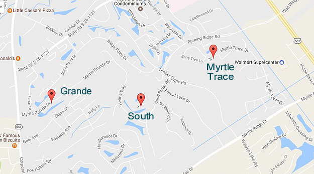 Map of Myrtle Trace