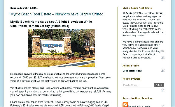 Myrtle Beach Blog screenshot