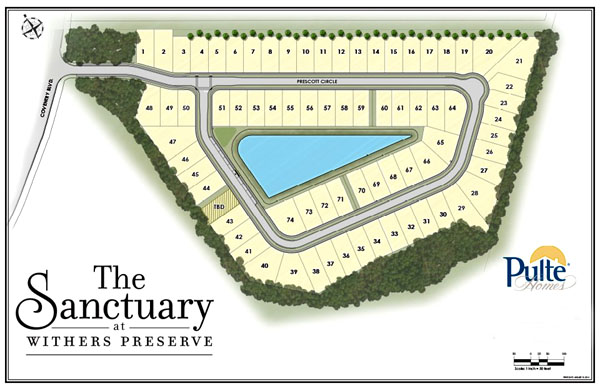 Map of the Sanctuary at Withers Preserve