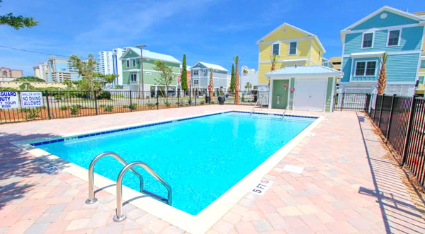 Pool at South Beach Cottages at 27th