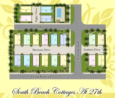 South Beach Cottages Siteplan