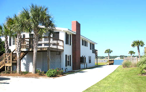 Surfside Beach Houses on Channel