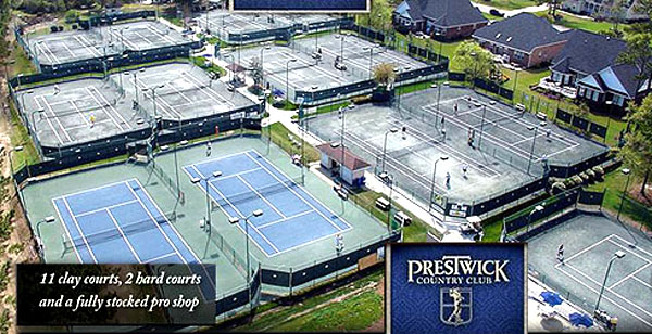 Prestwick Tennis Courts in Myrtle Beach