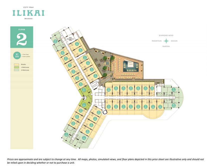 Ilikai 2nd Floor Layout and Floor Plans