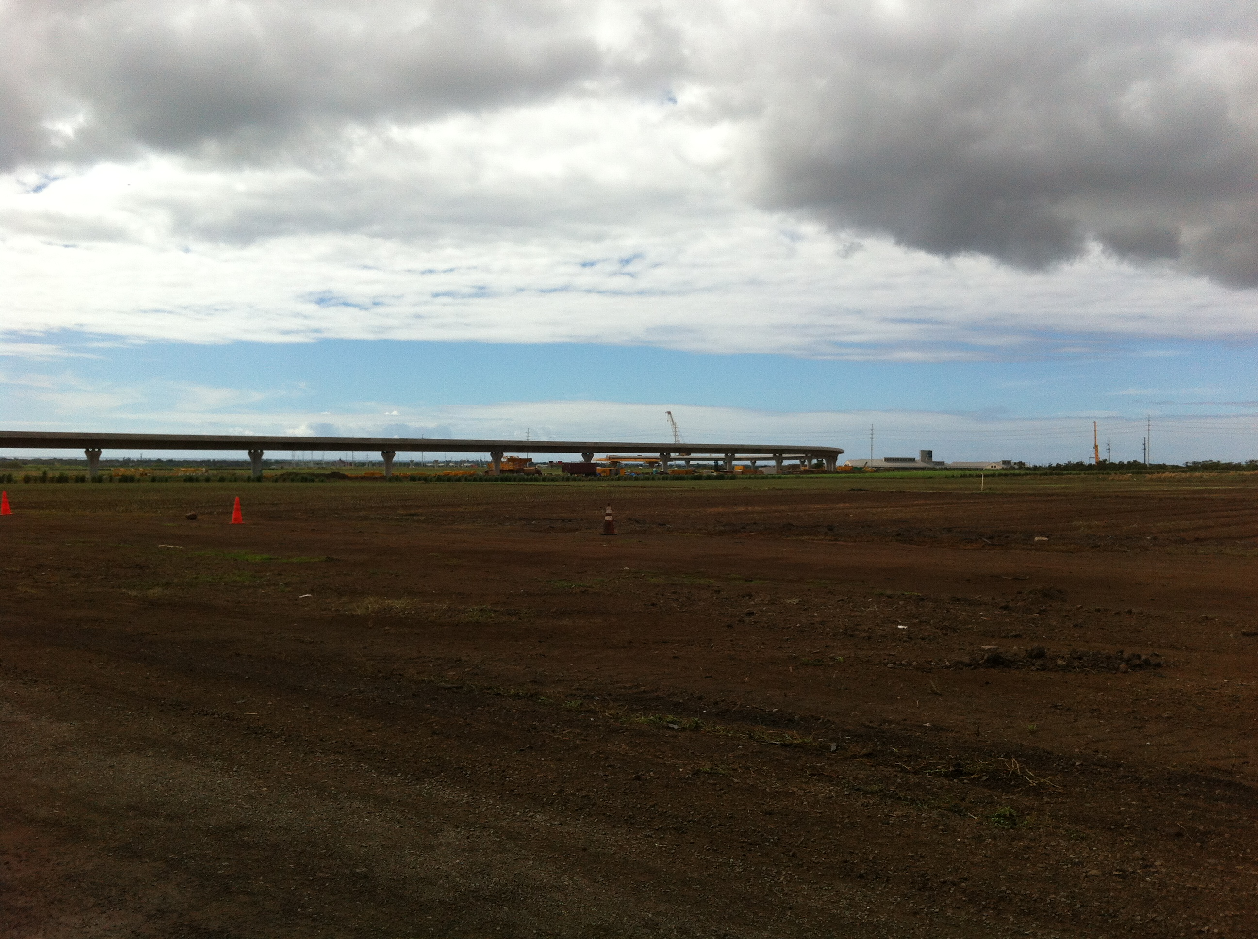 Rail Pilings and Tracks now in the Ewa Plain