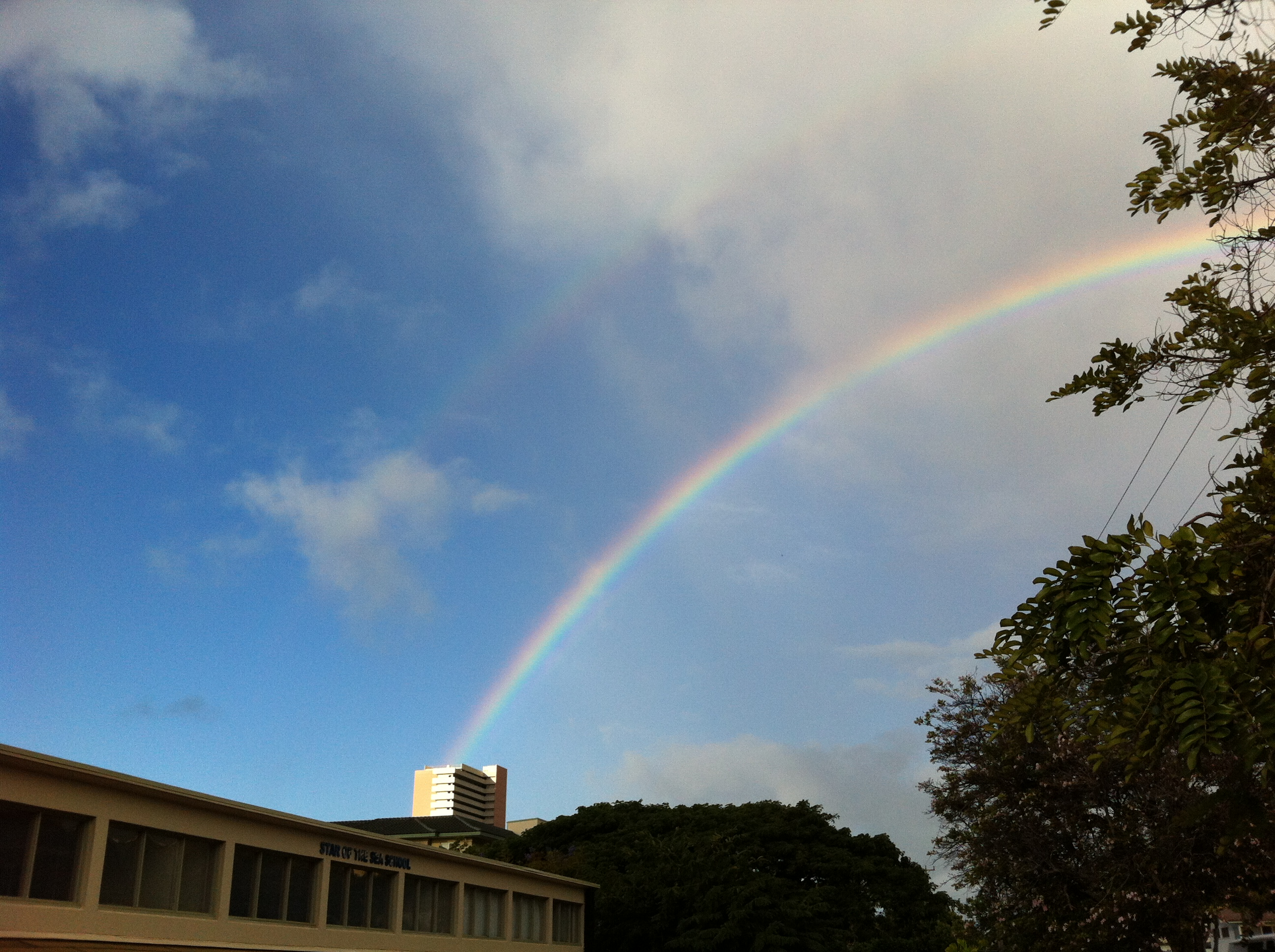 Rainbow over Kahala Towers