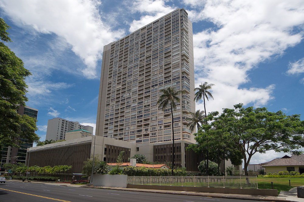 Banyan Tree Plaza Seen from Punahou St.
