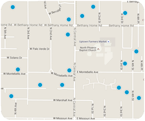 Central Avenue Interactive Map Search