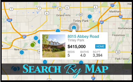 Search Tinley Park Homes By Map