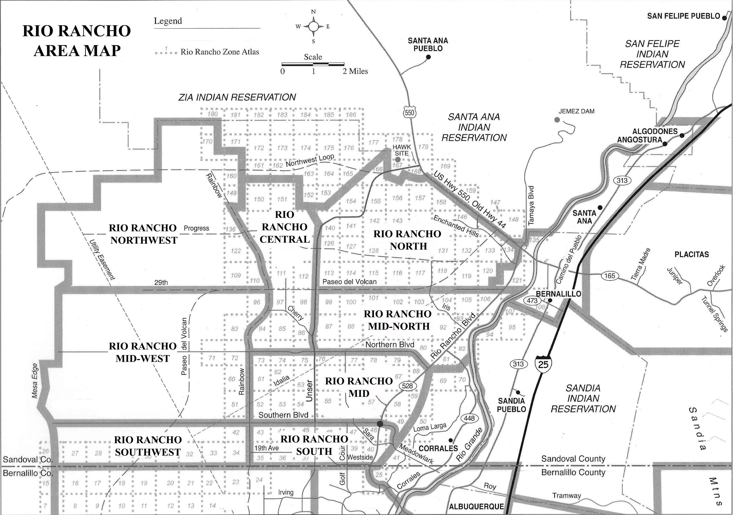 Rio Rancho Map Areas