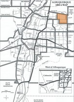 North Albuquerque Acres Area Map