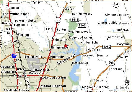 Houston Map Kingwood