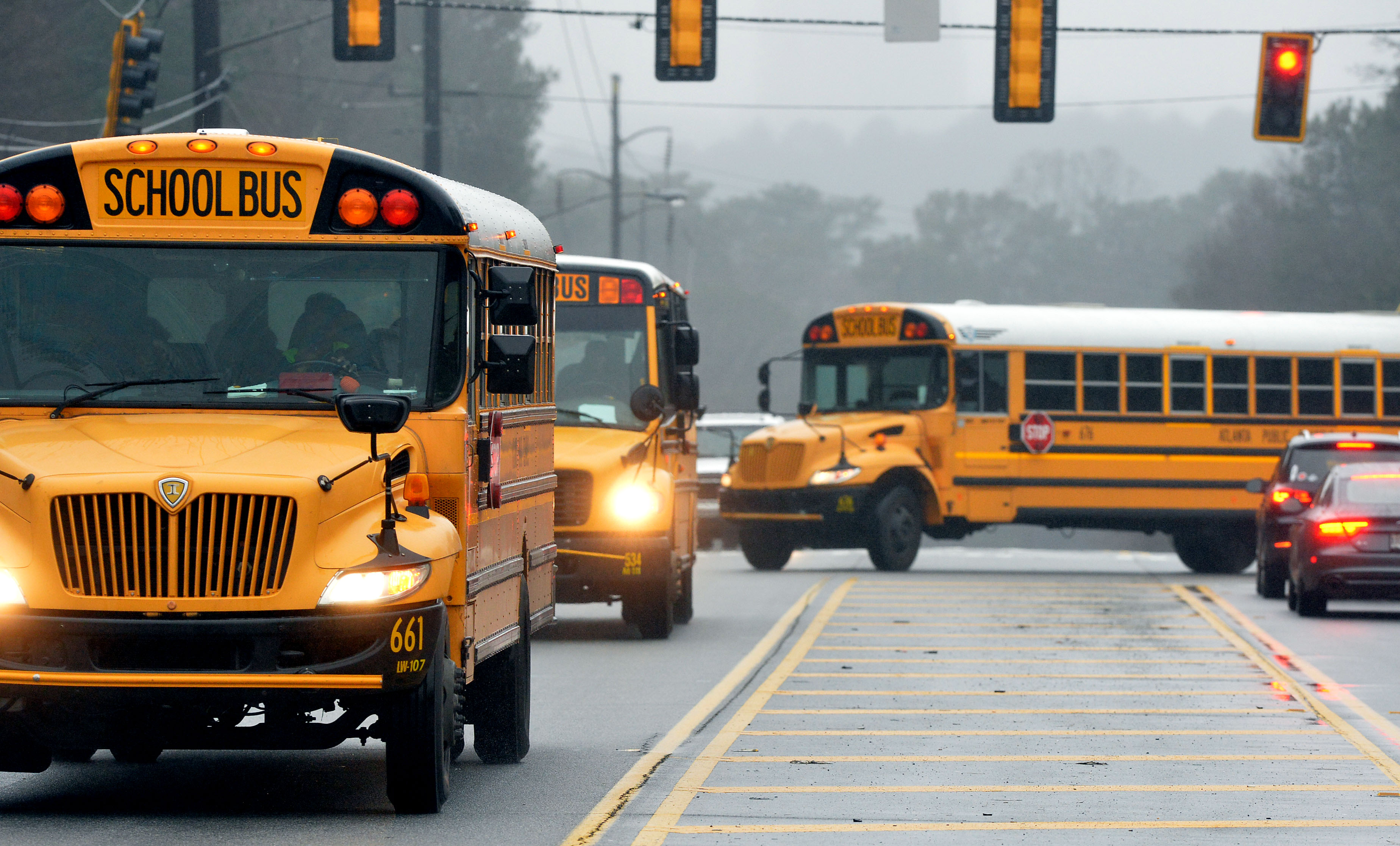 First Day of School North Iowa Bus