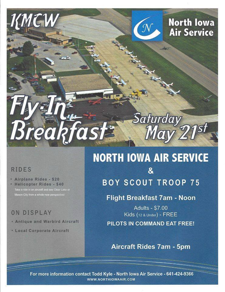 NI Air Service Flight Breakfast