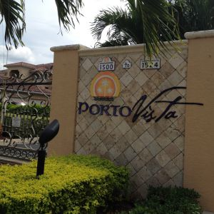 Porto Vista Entry Gate Cape Coral Florida