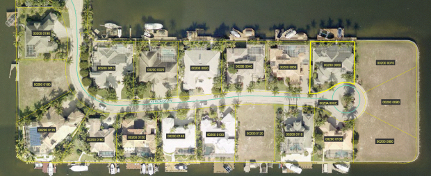 Aerial View of The Hermitage in SW Cape Coral Florida