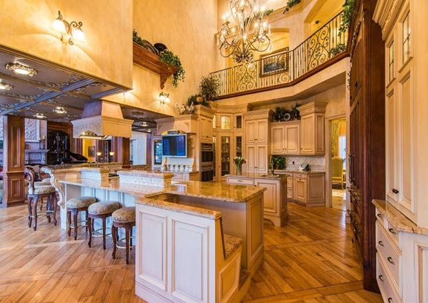Luxury home with a gourmet kitchen