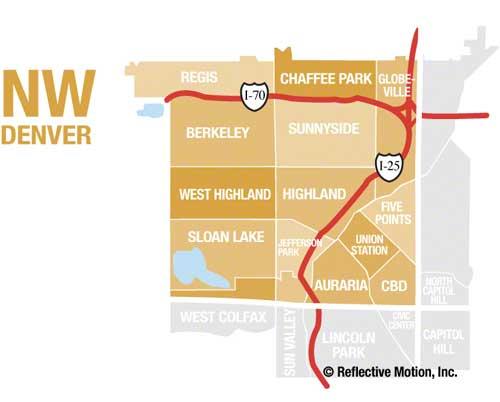 Northwest Denver Neighborhood Map
